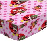 SheetWorld Fitted Pack N Play Sheet - Minnie Mouse Pink - Made In USA - 29.5 inches x 42 inches (74.9 cm x 106.7 cm)