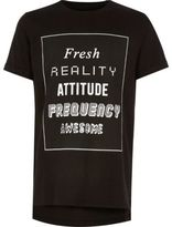 River Island Boys black print t-shirt