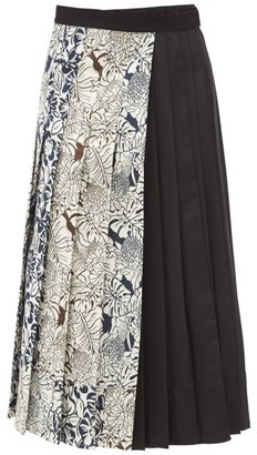 Max Mara Lago Midi Skirt - Black Multi