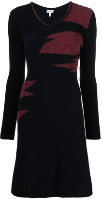 Loewe V-neck knitted dress