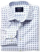 Charles Tyrwhitt Extra slim fit white and blue double faced shirt