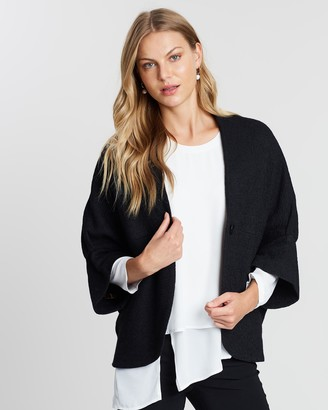 Faye Black Label - Women's Black Winter Coats - Cropped Capet - Size One Size, 14 at The Iconic