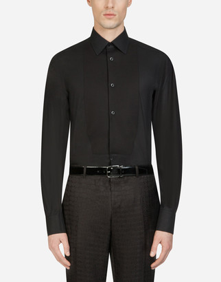 Dolce & Gabbana Cotton Gold-Fit Tuxedo Shirt