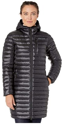 Marmot Long Avant Featherless Hoodie (Black) Women's Clothing