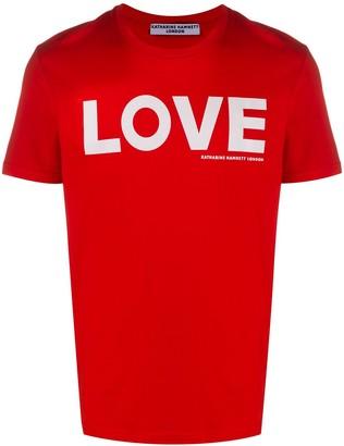 Katharine Hamnett Love slogan print organic cotton T-shirt
