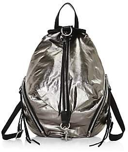 Rebecca Minkoff Women's Julian Metallic Nylon Backpack