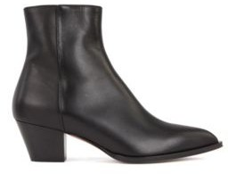 BOSS Italian-leather ankle boots with block heel