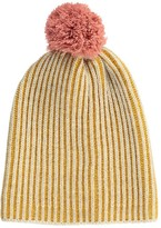Bobo Choses Striped Beanie with Pompom