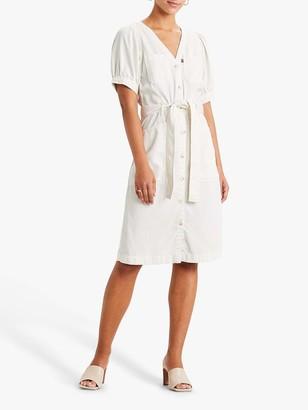 Levi's Bryn Denim Tie Waist Mini Dress