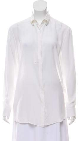 Givenchy Silk Long Sleeve Top w/ Tags