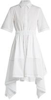 J.W.Anderson Butterfly-hem cotton-poplin dress