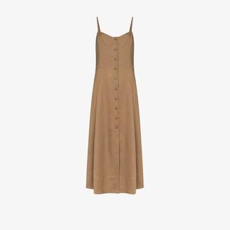 Three Graces Carlotta button-down midi dress