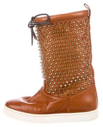 Christian Louboutin Surlapony Spiked Boots