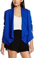 Molly Bracken Women's Long Sleeve Blazer - Blue -