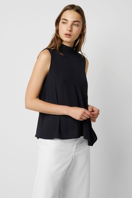 French Connection Abena Light Mock Neck Sleeveless Top