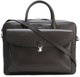 Tod's classic briefcase - men - Leather/Polyester - One Size