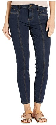 Liverpool Abby Seamed Ankle Skinny Cat Eye Pocket in Four-Way Stretch Denim in Corvus Dark (Corvus Dark) Women's Jeans