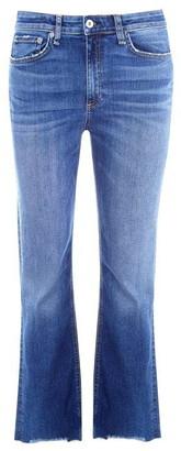 Rag & Bone Nina Stretch High Rise Ankle Flare Jeans