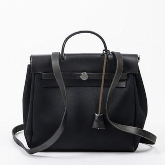 Hermã ̈S HermAs Herbag Black Leather Backpacks