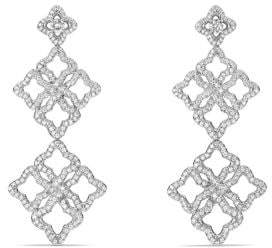 David Yurman Venetian Quatrefoil Double-Drop Earrings With Diamonds