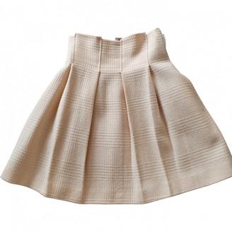 Emporio Armani White Wool Skirt for Women