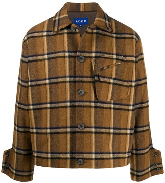 Ader Error Plaid Flannel Shirt