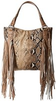 Urban Originals Women's Castaway Snake Tote, Tan