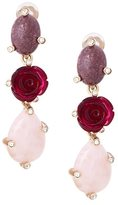 Oscar de la Renta stone pendant earrings