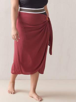 Midi Wrap Skirt Pareo with Side Buckle - Addition Elle