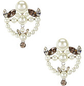 Givenchy Faux-Pearl & Crystal Drop Earrings
