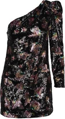Self-Portrait One-shoulder Midnight Bloom Sequin Dress