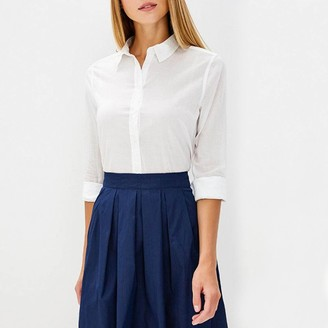 Benetton Plain Cotton Shirt with Long Sleeves