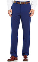 Roundtree & Yorke Travel Smart Ultimate Comfort Classic Fit Flat Front Non-Iron Solid Microfiber Dress Pants