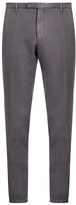 Boglioli Slim-leg Cotton And Linen-blend Trousers