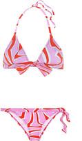 Emilio Pucci Printed Triangle Bikini - Pink