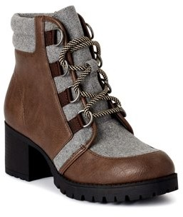 Scoop Womens Sadie Heeled Hiker Boots