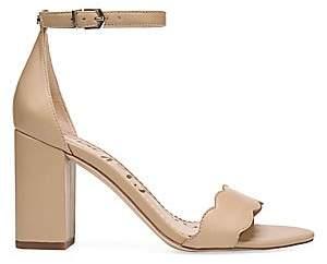 Sam Edelman Women's Odila Scallop Leather Sandals