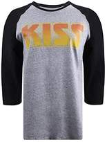 Kiss Women's Vintage Flame Long Sleeve Top,(Manufacturer Size:Large)