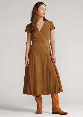 Ralph Lauren Suede Wrap Dress