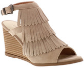 Very Volatile Notion Fringe Wedge Sandal