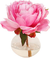The French Bee 7 Peony in Bubble Vase, Faux