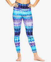 Gaiam Melodie Printed High-Rise Cutout Leggings