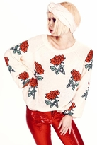 Wildfox Couture A Rose Is A Rose Pfeiffer Sweater in Baby