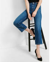 Express High Waisted Straight Cropped Jeans