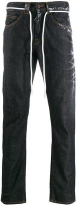 Off-White Paint Splatter Straight-Leg Jeans