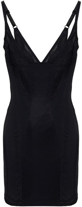 Wacoal Vision Satin And Lace-trimmed Stretch-mesh Chemise