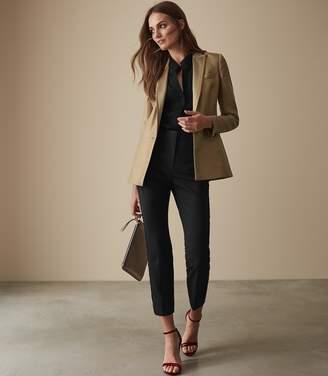Reiss Kita - Lace Collar Blouse in Black