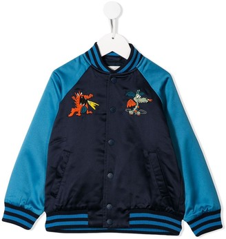 Stella Mccartney Kids TEEN dragon embroidered bomber jacket
