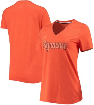 Nike Women's Orange Syracuse Orange Retro Pack Tri-Blend V-Neck T-Shirt