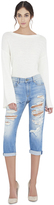 Alice + Olivia Scott Boyfriend Distressed Jean